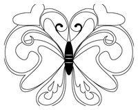 Раскраска Симпатичная бабочка