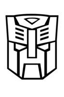Раскраска Символ автоботов