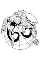 Раскраска Символ Человек-паук
