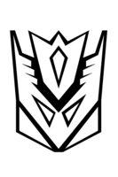 Раскраска Символ десептиконов
