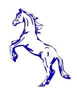 Раскраска Синяя деревянная лошадь