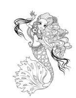 Раскраска Сирена Фон Бу (Sirena Von Boo)
