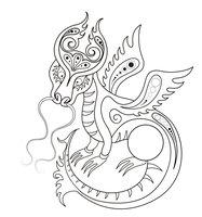 Раскраска Сказочный дракон