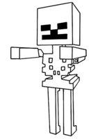 Раскраска Скелет из Майнкрафт