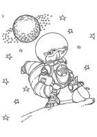 Раскраска Скрат на луне