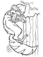 Раскраска Скрат с орехом на голове