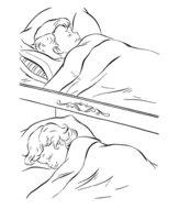 Раскраска Сладкий сон перед Пасхой
