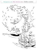 Раскраска Смурфы и приключения по точкам