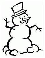 Раскраска Снеговик с ручками и ножками