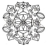 Раскраска Снежинка - символ богатства
