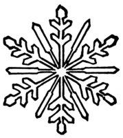 Раскраска Снежинка на моем окошке