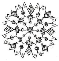 Раскраска Снежинка, приносящая счастье