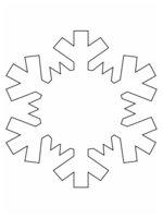 Раскраска Снежинка с капелькой воды