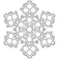 Раскраска Снежинка с узорами