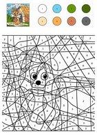 Раскраска Собака по цифрам