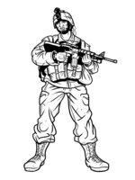 Раскраска Солдат