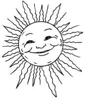 Раскраска Солнце