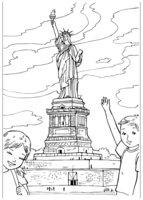 Раскраска Статуя Свободы