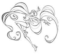 Раскраска Стелла - волшебница