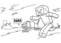 Раскраска Стив с собакой
