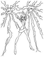 Раскраска Сторми-ведьма гроз