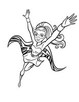 Раскраска Суперсила Барби