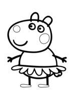 Раскраска Сьюзи - лучшая подруга Пеппы