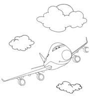 Раскраска Тачка-самолёт
