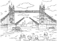 Раскраска Тауэрский мост