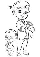 Раскраска Тим и беби босс
