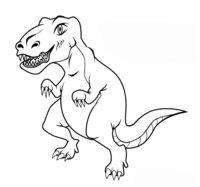 Раскраска Тираннозавр Ти-рекс