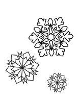 Раскраска Три снежинки - подружки
