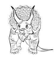Раскраска Трицератопс семейства цератопсидов