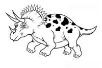 Раскраска Трицератопс