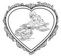 Раскраска Валентинка с Ариэль