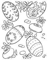 Раскраска Варианты раскрашивания пасхальных яиц
