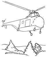 Раскраска Вертолёт в подарок на 23 февраля