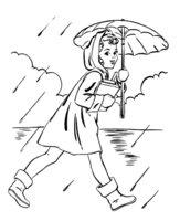 Раскраска Весенний дождь