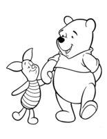 Раскраска Весёлые друзья Винни-Пух и Пятачок