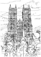 Раскраска Вестминстерское аббатство