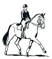Раскраска Всадник на лошади