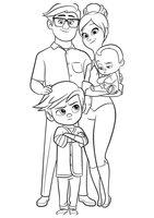Раскраска Вся семья мультфильма Босс молокосос