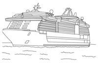 Раскраска Яхта