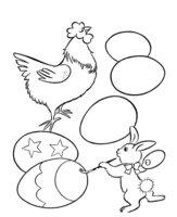 Раскраска Яйца на Пасху. Раскрашиваем сами