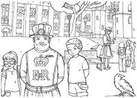 Раскраска Йомены — стражи Тауэра