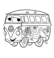 Раскраска Забавный автобус Филмор
