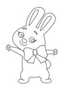 Раскраска зайка (олимпийский талисман)