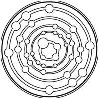 Раскраска Зендала Космос