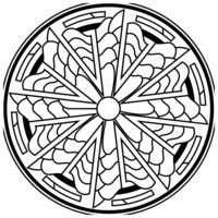 Раскраска Зендала Солнечная
