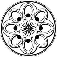 Раскраска Зендала Весенняя